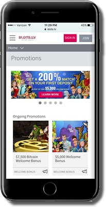 Slots.lv Bonuses and Promotions