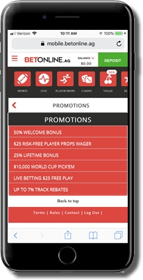 Bonuses and Promotions at Betonline Sportsbook