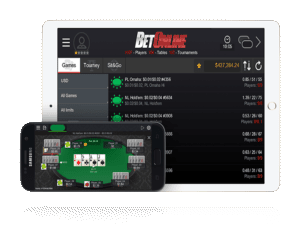 Screenshot of Betonline mobile poker apps